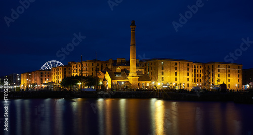 Albert Dock, Liverpool, England at Night