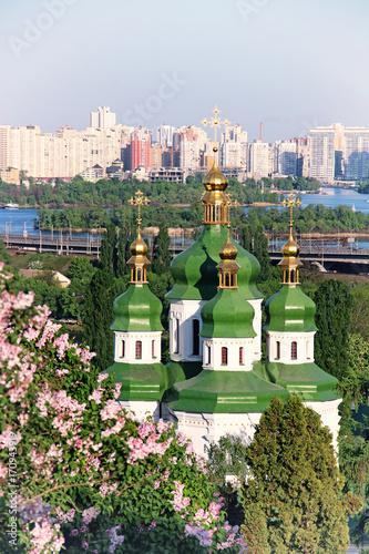 Fotobehang Kiev Vydubychi Monastery, Kyiv, Ukraine