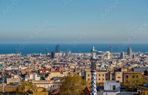 Aluminium Barcelona Barcelona cityscape overlook