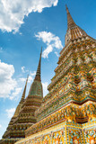 Colorful chedi in Wat Pho - 170957935