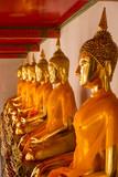 Sitting Buddha statues in Wat Pho - 170957942