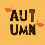 Typographic Autumn Design - 170959354