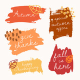 Autumn Brush Stroke Banners - 170960536