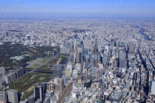 Fotobehang Tokio 東京駅上空/空撮