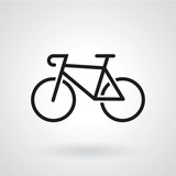 Bike icon. Vector illustration