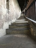 staircase of an old worn-out castle