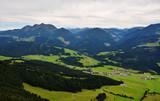 Buchensteinwand  mountain seen from Jakobskreuz Cross in Sankt Ulrich am Pillersee, Austria