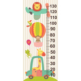 growth measure with baby jungle animals  - vector illustration, eps
