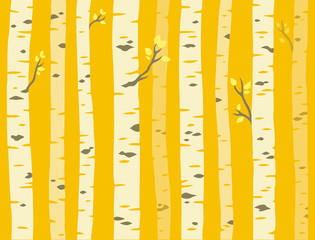 Autumn aspen tree pattern
