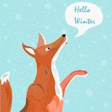 Fox saying Hello Winter