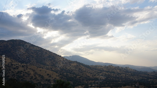 Foto op Canvas Grijze traf. Mojave Desert