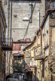 Walk through the narrow streets of the old city of Tbilisi (Georgia).