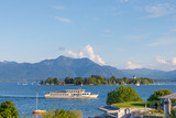 Ferry at Lake Chiemsee with Island Fraueninsel in Bavaria on a sunny summer day - 171008574