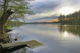 Polonia, lago al tramonto.