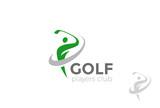 Golf player hits ball Logo design vector Golf club Logotype icon