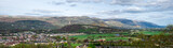 Panoramic landscape view of the city and highlands from Stirling Castle walls - 171033108