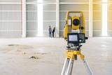 Surveyor equipment tacheometer or theodolite outdoors at construction site - 171033582