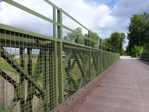 Fotobehang Khaki Bailey bridge for cycling track