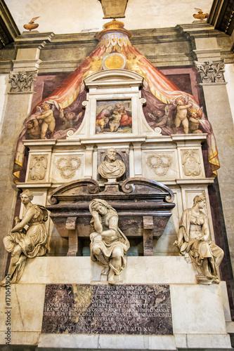Tomb of Michelangelo Buonarroti in Basilica di Santa Croce, Florence Poster