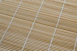 Texture of Bamboo Mat Is A Asian Traditioanl Kitchen Tool.