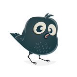 funny crow clipart