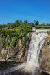View of 275 feet (84 meters) high Montmorency falls (located 10 km east of Quebec City). Quebec, Canada, North America.