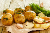 Roasted potatoes with dill and garlic - 171059396