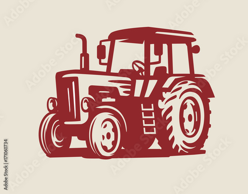 vector Tractor symbol Poster