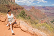 Woman sitting on the Bright Angel Trail