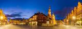 evening panorama of Poznan