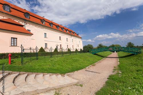 Foto op Plexiglas Krakau Niepolomice, historical city near the Krakow / castle historical architecture.