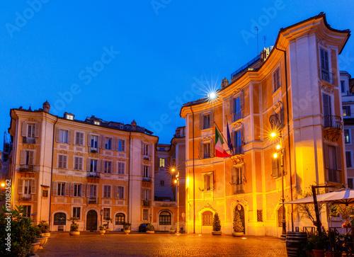 Foto op Plexiglas Rome Rome. Square of St. Ignatius of Loyola.