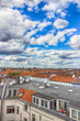 Berlin, Germany, top view. Red roofs and beautiful sky