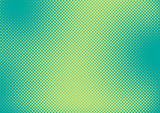 Fototapety Bright green and turquoise pop art retro background with halftone in comic style, vector illustration eps10