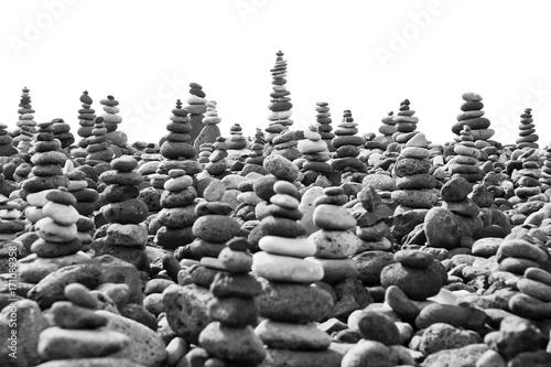In de dag Stenen in het Zand pile of stones beach