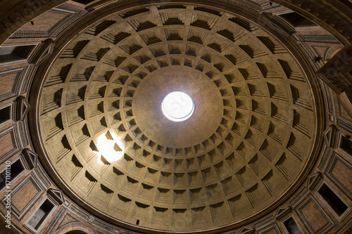 ancient Pantheon church dome in Rome, Italy - 171101130