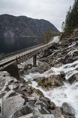 Fotobehang Bruggen Bridges in Norway