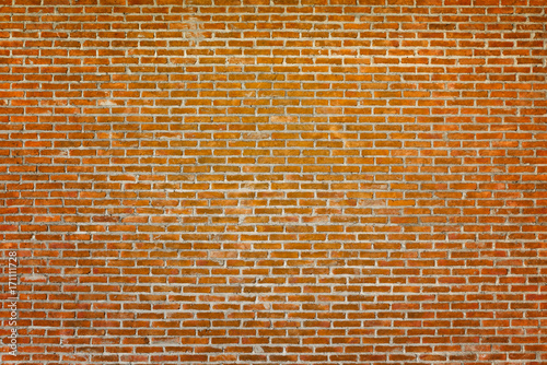 Foto op Canvas Baksteen muur Pattern of old brick wall for background and textured, Seamless dirty brick wall background