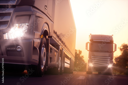 Fototapeta Sunset Express 5
