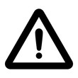 warning sign black icon