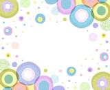 Фон с изображением кругов разного цвета, разного размера и разной текстуры. Место для текста в центре. - 171118105