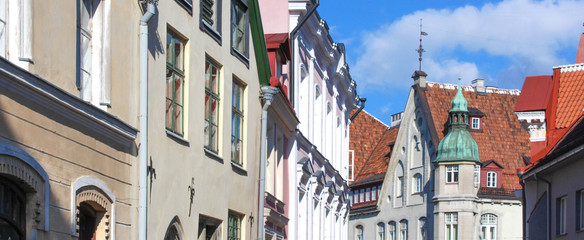 Tallinn / Estonie - Façades dans Pikk Tanav