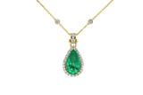 emerald chain  necklace