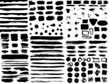 Large set of hand drawn grunge elements isolated on white background. - 171135397