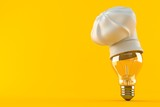 Light bulb with chef's hat - 171140938