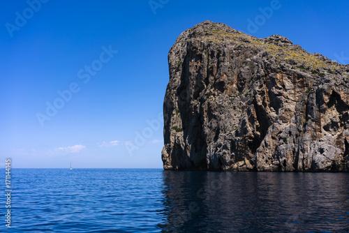 Foto op Canvas Grijze traf. beautiful scenery with shoreline in Palma de Mallorca