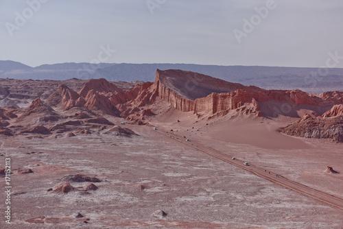 Fotobehang Donkergrijs Valle De La Luna - Moon Valley, Atacama, Chile