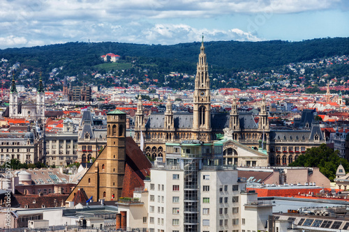 City of Vienna Cityscape in Austria