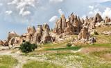 Landscape with rock formations in Cappadocia, Turkey. - 171155357