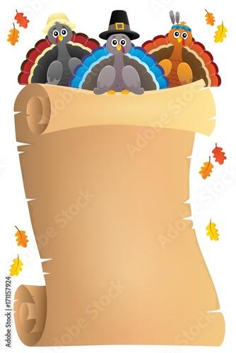 Fotobehang Voor kinderen Thanksgiving theme parchment 9